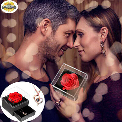 AU12.85 • Buy I Love You Gift Set In 100 Languages Roses Necklace Valentine's Day Gift Wedding
