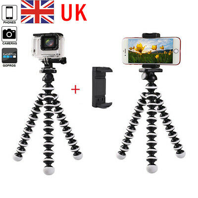 Universal Mobile Phone Holder Stand For Iphone Flexible Octopus Tripod Stand GBN • 5.27£