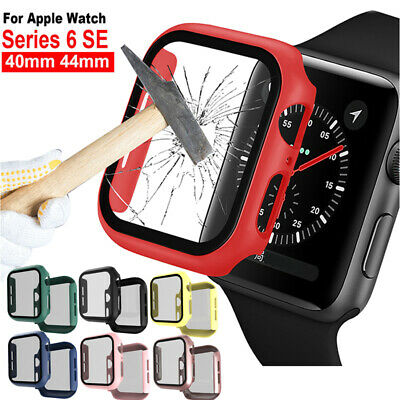 AU13.99 • Buy For Apple Watch Series 6 5 SE 38 42 40 44mm Bumper Hard Case W/ Screen Protector
