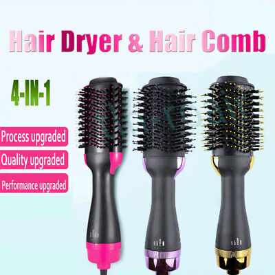 AU31.45 • Buy 4 In 1 One Hair Dryer Comb And Volumizer Pro Brush Aloy Straightener Curler AU