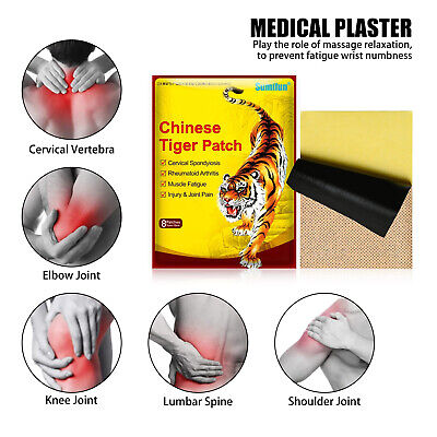 Large Capsicum Plaster TIGER Hot Pain Relieving Patches Muscle Relief+Belladonna • 5.82£
