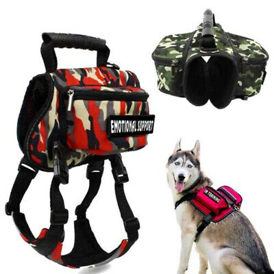 £13.64 • Buy Pet Dog Saddle Bag Outdoor Travel Hiking Camping Carrier Puppy Backpack Harness