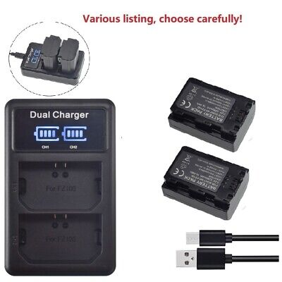 $ CDN54.42 • Buy NP-FZ100 Battery Or LCD Dual Charger For Sony A9 A7R III A7 III Mark 3 VG-C3EM