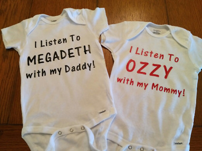 £10.91 • Buy Rock Music Baby Bodysuit Onsie. You Pick BAND, PERSON & COLOR  Ozzy, Metallica