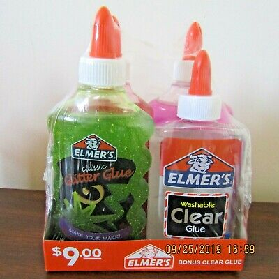 AU3.85 • Buy Elmer's Liquid Glitter Glue For Slime,Washable, 4 Assorted Colors, 6 Ounces Each