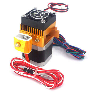 AU26.37 • Buy Mk8 12V Dual Head Nozzle Extruder Double Print Head For 3D Printer Prusa I3 Kits