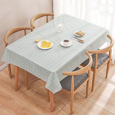 AU11.42 • Buy 1pc Waterproof Kitchen Tablecloth Dining Table Cover Plaid Cloth Mat Heavy Duty