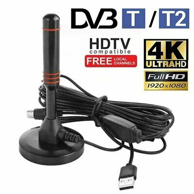 Portable TV Antenna Indoor Outdoor Digital DVB-T HDTV Freeview Aerial 200Mile • 11.99£
