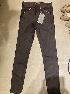 Oasis Wet Look Stretch Mid Rise Jeans Size 10 New With Tags • 15£