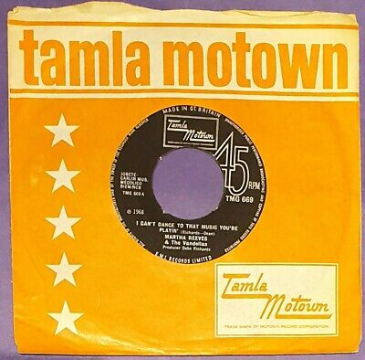 £16 • Buy Martha Reeves And The Vandellas I Can't Dance To That Music You're Playin' 45