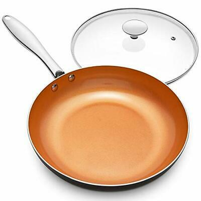 $46.24 • Buy  Frying Pan With Lid Nonstick 8 Inch With Ceramic Titanium Coating Copper