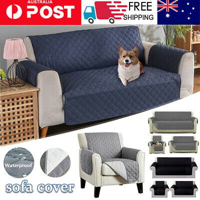 AU23.66 • Buy Sofa Cover Quilted Couch Covers Lounge Protector Pet Dog Slipcovers 1 2 3 Seater