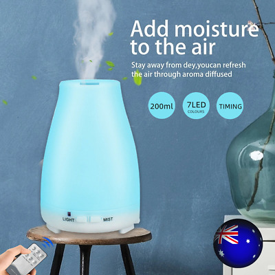 AU18.09 • Buy Essential Oil Humidifier Ultrasonic Air Diffuser Aroma Aromatherapy Air Purifier