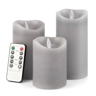 £11.99 • Buy 3X Flameless LED Wax Candles Flickering Battery Tea Light Wedding+Remote Control
