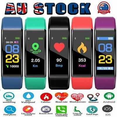 AU12.96 • Buy Smart Watch Band Sport Activity Fitness Tracker For Kids Fit Bit Android IOS HG