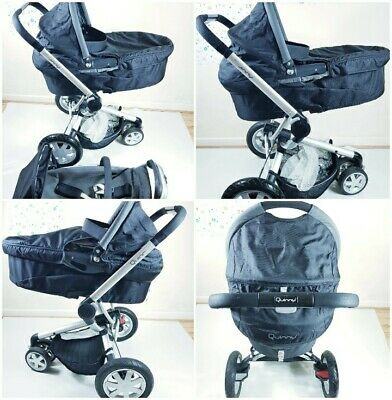 £349.99 • Buy LOVELY QUINNY BUZZ 4 BLACK PRAM  TRAVEL SYSTEM 2 IN 1 Excellent Condition