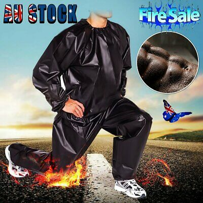 AU18.92 • Buy Heavy Duty Sweat Suit Sauna Suit Exercise Gym Suit Fitness Weight Loss Anti-Rip