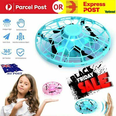 AU26.96 • Buy Mini Drones 360° Rotating Smart UFO Drone For Kids Flying Hand-Control Toy XmaHG