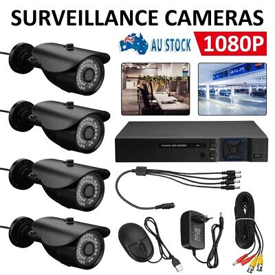 AU130.99 • Buy CCTV Security System Home Camera DVR 1080P Outdoor Day Night Long Range AU