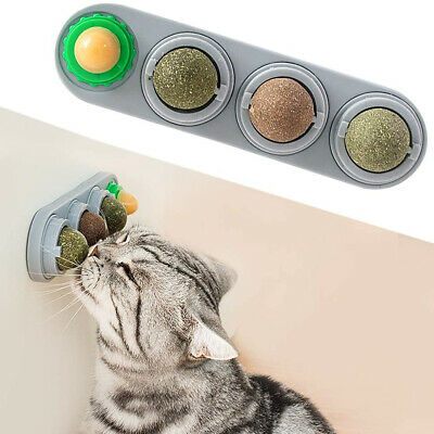 AU16.35 • Buy 4PCS Cat Mint Catnip Balls Kitty Toys For Cats Lick Pet Chew Toys Teeth Cleaning
