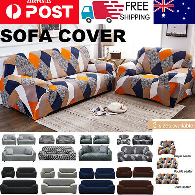AU23.90 • Buy Sofa Cover Couch Lounge Protector Slipcovers High Stretch Covers 1 /2 /3 Seater