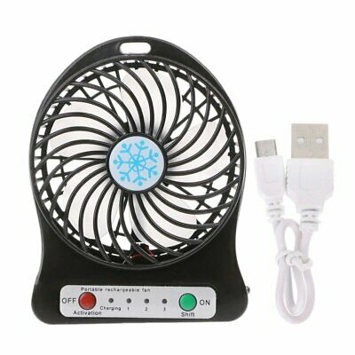 AU12.99 • Buy USB Powered Portable Table Fan Mini USB Desk Fan Small Quiet Personal Cooler