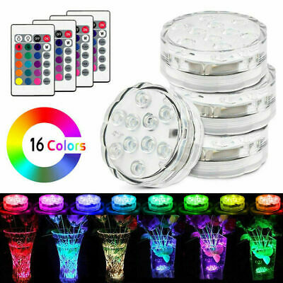 LED Lamp Remote Control Color Change Light LED RGB Submersible Diving Waterproof • 7.29£