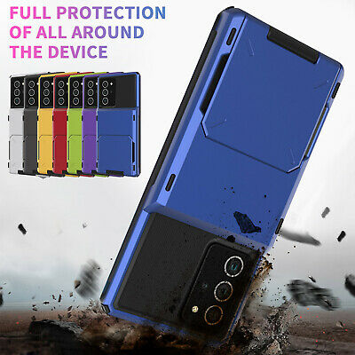 AU11.96 • Buy For Samsung S20 Ultra S10 S9 S8 Plus Case Shockproof Hybrid Card Holder Cover