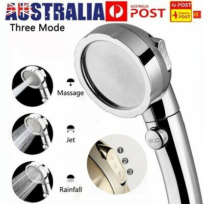 AU13.98 • Buy High Pressure Handheld Shower Head With ON/Off Switch 3 Modes Water Saving