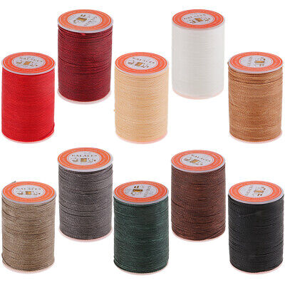 £3.98 • Buy Leather/CANVAS Sewing Waxed Thread For LeatherCraft DIY, 0.8mm Round