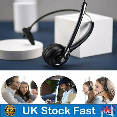 Stereo Headset Bluetooth Headphones Weight For PC Microphone Light Laptop Skype • 20.39£