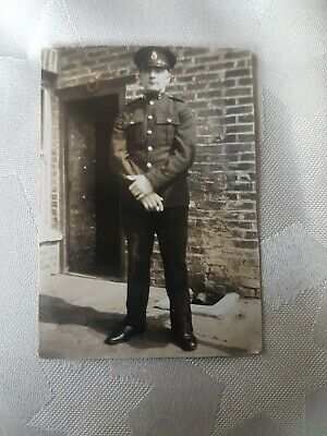 WW1 ROYAL MARINES SOLDIER, STANLEY VIC, IN UNIFORM. ORIGINAL WW1 PHOTO 8x5cm App • 2.99£