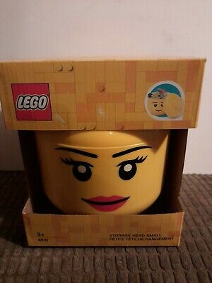 £17.50 • Buy LEGO Storage Head, Yellow, Small    NEW AND BOXED - FREE POSTAGE