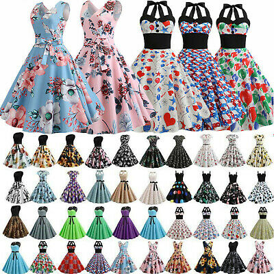 AU20.99 • Buy Women Sexy 50s 60s Vintage Retro Rockabilly Grown Prom Swing Evening Party Dress