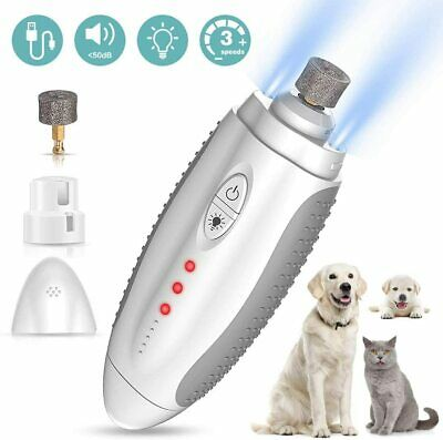 Pet Dog Cat Nail Claw Grooming Grinder Trimmer Clipper Electric Nail File Tool • 9.99£