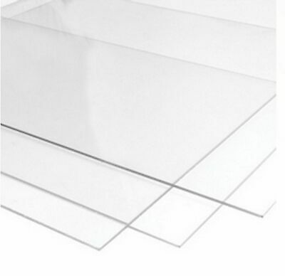 £3.89 • Buy Perspex Glass Styrene Clear Transparent Acrylic Sheet Plastic Sheet Many Sizes