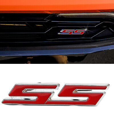$9.99 • Buy Chrome Red SS Front Grille Emblem Badge Sticker For Chevrolet Camaro