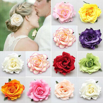 $ CDN2 • Buy Rose Flowers Bridal Hairpin Hair Clip Women Wedding Birthday Party Accessories