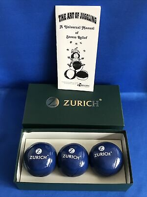 AU39.31 • Buy Higgins Brothers Juggling Balls With Zurich Logo Box Set Of 3 With Manual