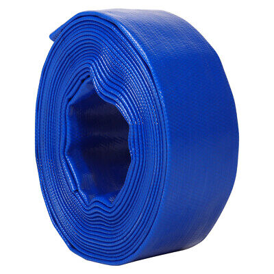 £55.95 • Buy 10m-50m Pvc Lay Flat Hose Water Discharge Delivery Pump Pipe Irrigation Layflat