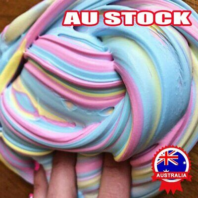 AU8.23 • Buy Colorful Floam Strechy Slimes DM Fluffy Rainbow Slime Stress Relief Toy UnicoHG