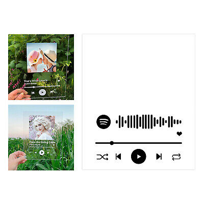 AU13.69 • Buy Customize Album Cover Favorite Song Personalised Spotify Any Song Plaque