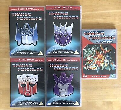 £32.95 • Buy Transformers (The Classic Animated Series 1-4 + The Movie) '3/4 Sealed'