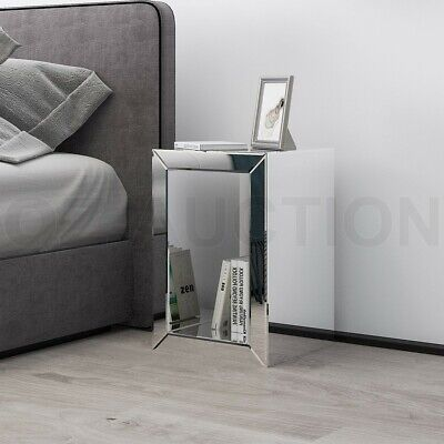 AU149.95 • Buy Mirrored Side Table Bedside Lamp Table Nightstand Mirror Furniture With Storage