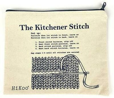 $ CDN18.79 • Buy Kitchener Stitch Zip Project/ Notions  Bag By Hikoo- Canvas, Sturdy, Washable!