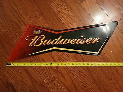 $ CDN39.87 • Buy 2005 BUDWEISER Bowtie METAL SIGN APPROX  24 BY 10 //1032986 Original