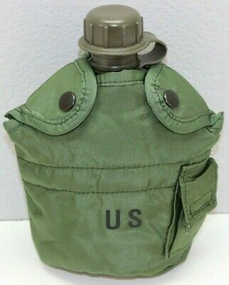 $ CDN21.75 • Buy US OD Nylon Canteen Cover With Belt Clips And OD Plastic 2qt Canteen Set E4206