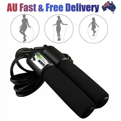AU15.28 • Buy Digital Counter Skipping Jump Fitness Rope Speed Gym Boxing Length Adjustable