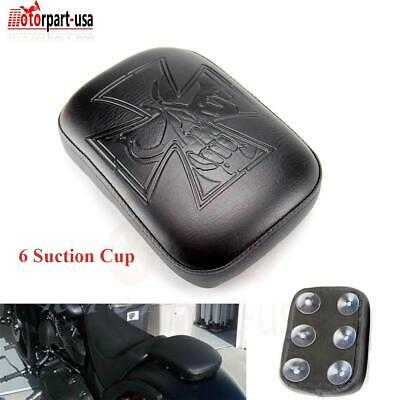 $17.95 • Buy Rear Passenger Pillion Pad Fender Seat 6 Suction Cup For Harley Bobber Sportster