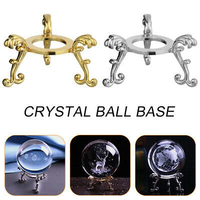 Crystal Ball Base Display Stand Sphere Stone Support Metal Holder • 3.15£